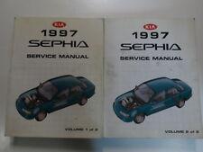 1997 Kia Sephia Service Repair Manual 2 VOLUME SET FACTORY OEM BOOK 97