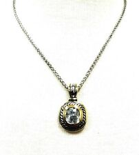 Womens Pendant Chain Necklace Love Silver Simulated Crystal Diamond Gift Jewelry