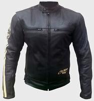 BLOUSON CUIR FEMME TAILLE XS S M L XL XXL Moto Leather Jacket VINTAGE Sfodrabile