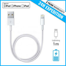 AAA+ IPHONE LIGHTNING CHARGEUR CHARGER CABLE 1M FOR IPHONE 5 6 7 8 X iPAD IPOD