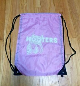 HOOTERS Promo Merch Pink String Backpack Back Pack Bag Rare