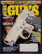 Magazine *GUNS* Feb 2017 !KIMBER Micro 9 9mm PISTOL! *SIG M400 Predator 5.56mm*