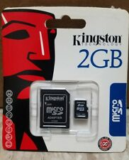 3X Kingston 2GB MicroSD Card - Retail - SDC/2GB