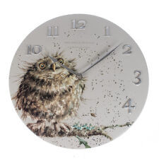 Wrendale Designs Wall clock What a Hoot OWL clock NEW BOXED