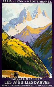 Affiche chemin de fer PLM - La Maurienne