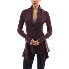Women Long Sleeve Knitwear Cardigan Sweater Jacket Coat Waterfall Long Outwear