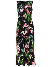 WALLIS BLACK Tropical Print Maxi Dress