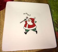 """Fitz and Floyd Merry Christmas 4 1/2"""" Square Snack Plates 4"""