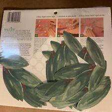 Wallies Vinyl Decal Cutouts Furniture Scrap Booking 25 Laurel Leaf green
