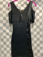 ARDEN B Cold Shoulder Black Dress Women's Size S NEW NWT
