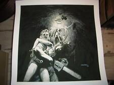BERNIE WRIGHTSON - Art print - Dark as a Dungeon - Texas Chainsaw Massacre