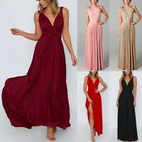 Women Sleeveless Backless Boho Maxi Dress Holiday Evening Party Beach Long Dress