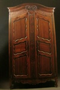 French Provincial Cherry Armoire