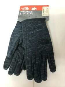 the north face windwall etip grey/black size L unisex glove