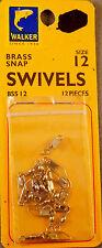 Trout Fishing 1 Pack Of 12 Walker #12 Brass Snap Swivels +A