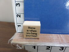 stampin up home is where you hang your heart rubber stamps 8q