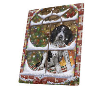 Please Come Home Bluetick Coonhound Tempered Cutting Board Large Db872