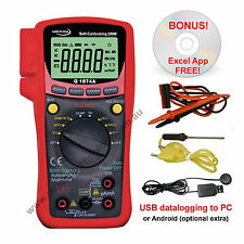 Data-logging Multimeter DMM - Q1074A - 6000 count with Temperature Probe