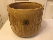 Vintage Dartmouth Potter Plant Pot Holder / Jardiniere Barley/Wheat design Brown