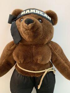 Vintage Rambo Teddy Bear Rambear, Stuffed Animal Plush Toy Applause 1986