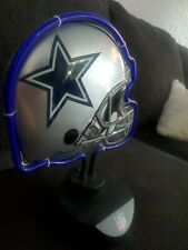 Dallas Cowboys Neon Light Lamp Sign Helmet Football Man Cave Official Nfl