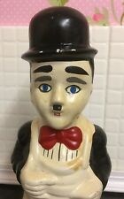 Charlie Chaplin Ceramic Utensil Holder Figure Unusual Item Wierd silent films
