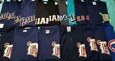 Lot of 17 NOS Vtg MLB Baseball mens t shirt henley v-neck Padres Marlins Tigers