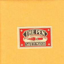 VINTAGE Match Matchbox Label DEEP RICH COLOR The Pen Best Impregnated B1