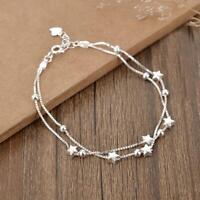 Silber Perlen Stern Liebe Charm Armband Frauen Schmuck Weihnachtsgeschenk