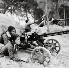 Vietnam War Viet Cong Females Arm DSHK-38 Machine Gun High Gloss 8.5x11 Photo