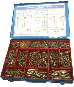 2000 Torx Spanplatten Schrauben im Metall Koffer 3x12 - 5x80, herausnehmb. Boxen