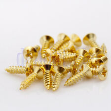 20 X Gold Scratch plate Pickguard Screws For Fender Strat Tele Guitar DE