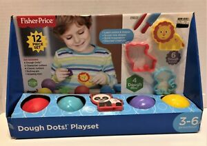 Fisher-Price Dough Dots! 12 Piece Play Set Molding Clay NEW