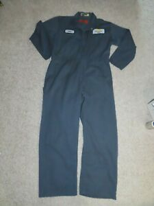 Vintage Blueish Gray Red Kap Jumpsuit Coveralls Made USA Mens 44 RG Mechanic EUC