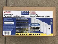 Kidde Digital Carbon Monoxide Detectors 900-0076, 6 pack