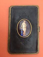 Antique Gentlemans Visiting Card Case - Erotic/Bondage Ceramic Panel