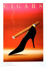 Original Vintage Limited Edition Print Cigars by Razzia Hand Signed 2007