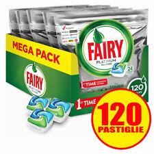 Fairy Platinum All in One Detersivo in Caps per Lavastoviglie, Confezione da 120 Pastiglie
