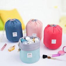 Barrel Shaped Travel Makeup Bag High Capacity Drawstring Cosmetic Organizer KY