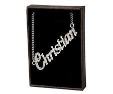 """Collar de nombre """"cristiana"""" - de 18 quilates chapado Oro Blanco Plateado-Custom Dama Cumpleaños"""