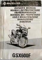 SUZUKI GSX600F 1997 Original Motorcycle Handbook #99011-19C60-042