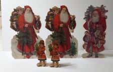 The Winslow Papers Stand-Up Collection Christmas Santa Cut outs 1980s Set of 5