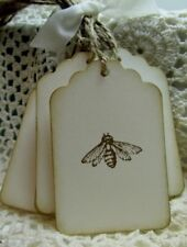 Rustic HONEY BEE hang tags Labels - BEE Keeper - BEE Products - Bee Hive