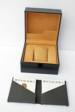 Original BULGARI Watch - BOX ONLY – Black Leather – Excellent