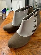 Melissa jelly plastic shoes flock gray ankle boots shoes booties bicolor Size 38