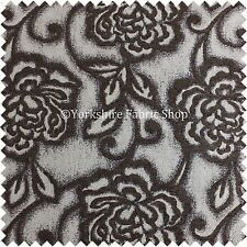 Floral Embossed Brown Pattern in Natural Colour Furnishing Upholstery Fabric
