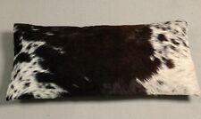 NEW COWHIDE LEATHER CUSHION COVER PILLOW COW HIDE HAIR ON CUSHION E-1305