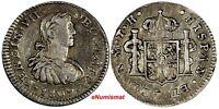 Mexico SPANISH COLONY Ferdinand VII Silver 1809 MO TH 1/2 Real KM# 73