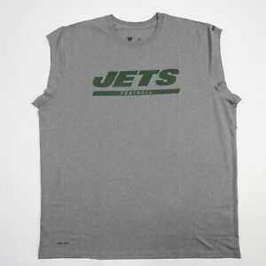 New York Jets Nike Dri-Fit Sleeveless Shirt Men's Gray New with Tags