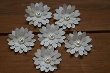15 MINK SHIMMER 3D FLOWERS WEDDING STATIONERY, TABLE CONFETTI, TOPPERS